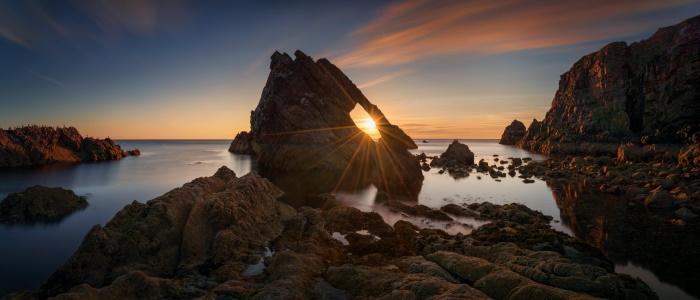 Bow Fiddle Rock at Sunrise